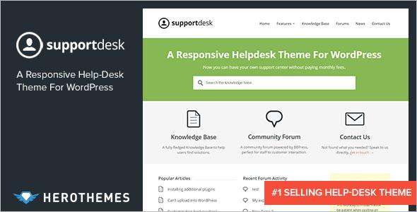 Help desk WordPress Theme
