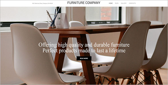 High-Quality Furniture Bootstrap Template