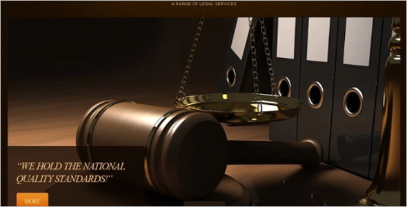 High-Quality Law Firm Website Template