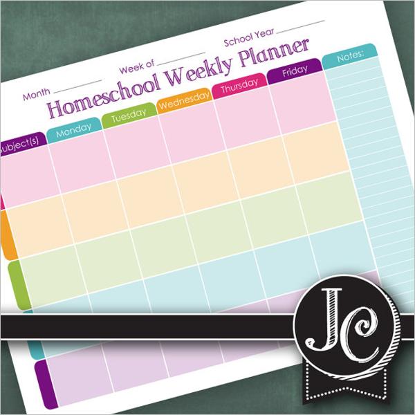 Homework Agenda Planner Book