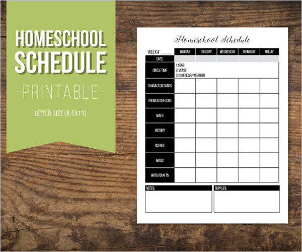 Homework Agenda Template PDF