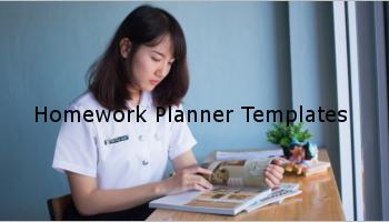 Homework Agenda Templates