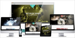Hot Music Band Joomla Template