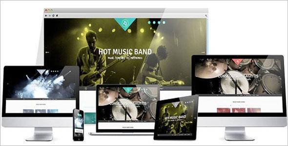 Hot Music Band Joomla Template