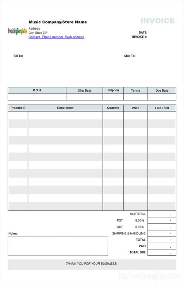 Hotel Accommodation Receipt Template