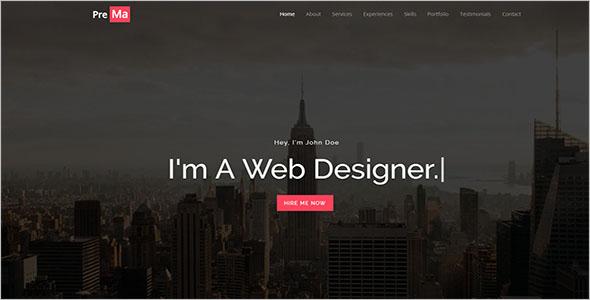 HTML Portfolio Page Template