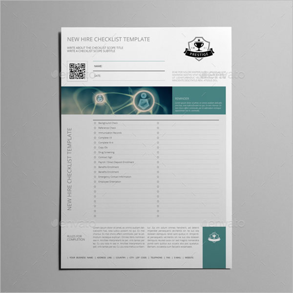 InDesign Checklist Template