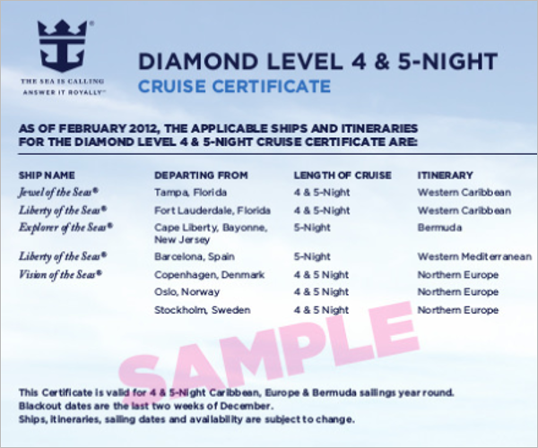 Incentive Cruise Itinerary Template