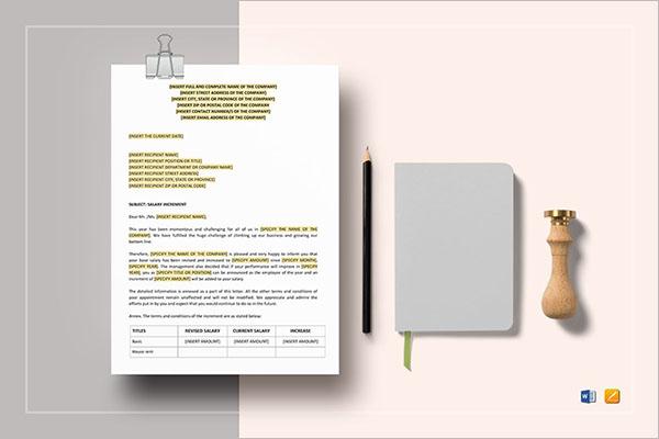 Increment Promotion Letter Format