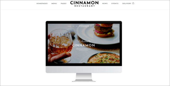 Indian Cafe Website Theme