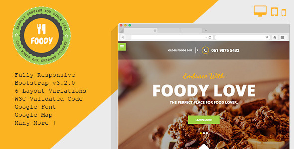 Indian Catering Website Theme