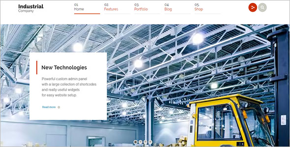 Industrial Miscellaneous WordPress Theme