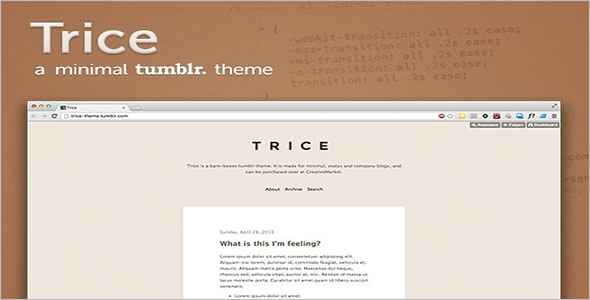 Infinite Scroll Tumblr Theme