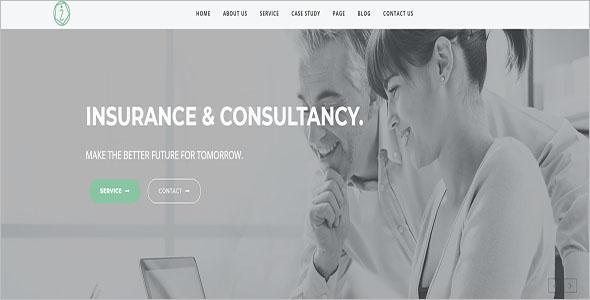Insurance Company WordPress Theme