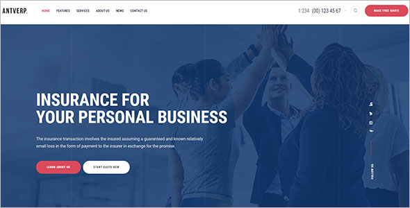 Insurance Service WordPress Theme