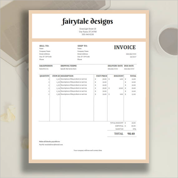 Inventory Invoice Tracking Template