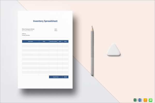 Inventory Spreadsheet Control Template