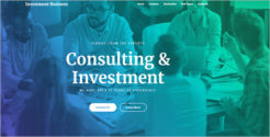 Investment Consulting WordPress Theme