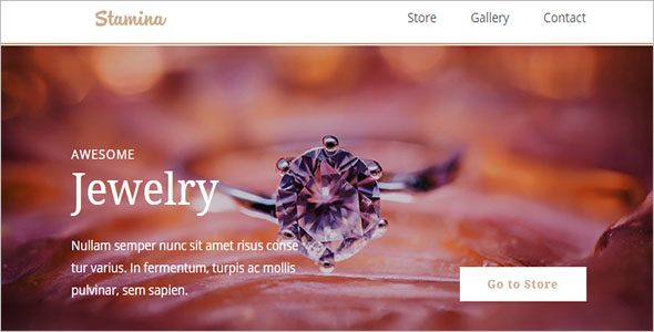 Jewelry Bootstrap Theme