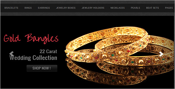 Jewelry E-commerce Bootstrap Template