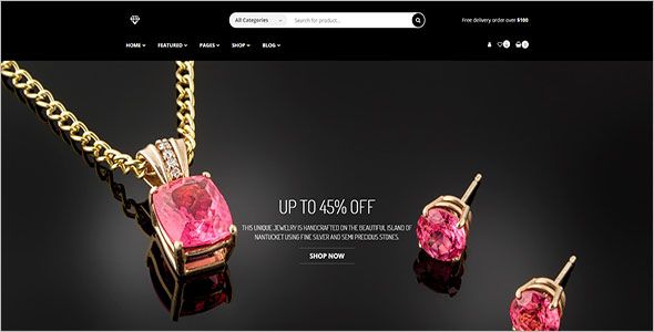 Jewelry Shop Bootstrap Template