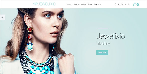 Jewelry Shopping Bootstrap Template