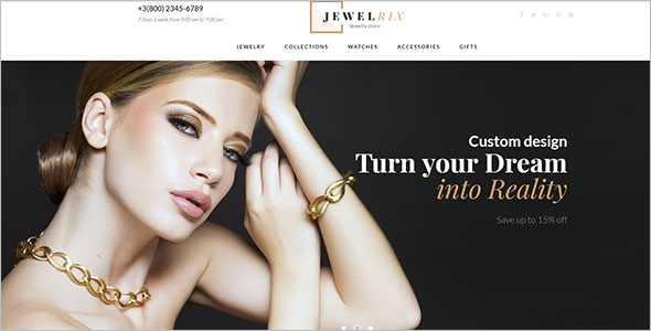 Jewelry Store Bootstrap Template