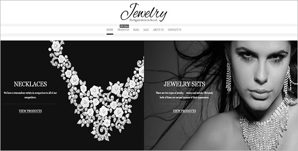 Jewelry Website Theme Responsive