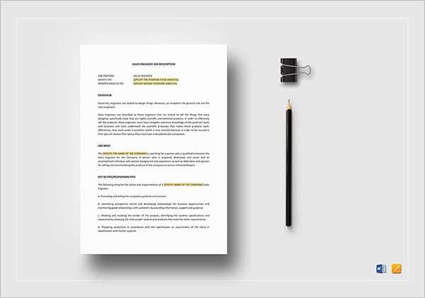 Job Description HR Template