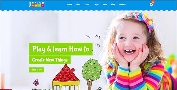 Junior Day Care Website Template