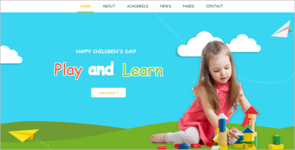 Kid Friendly Website Template