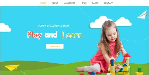 Kid Friendly Website Template