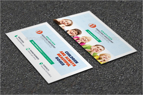 Kids Dental Business Card Template