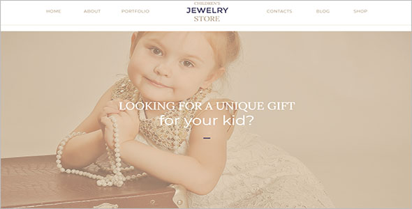 Kids Jewelry Bootstrap Template