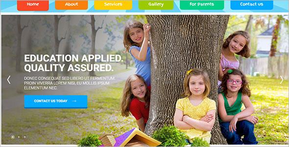 Kids Land Bootstrap Website Template