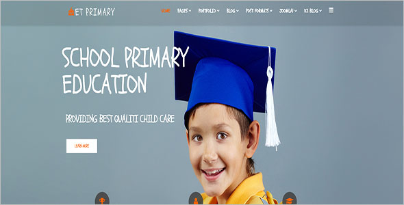 Kids Primary School Joomla Template