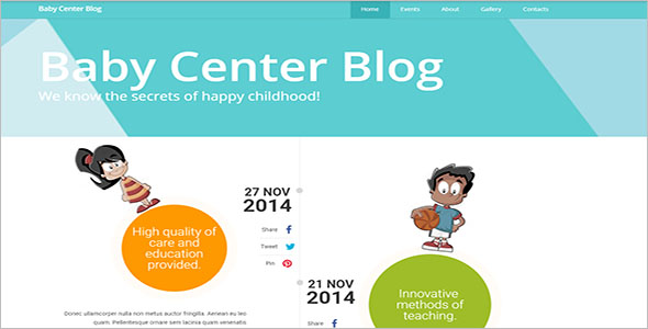 Kids Responsive Website Template