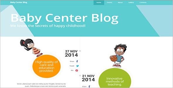 Kids Responsive Website Template