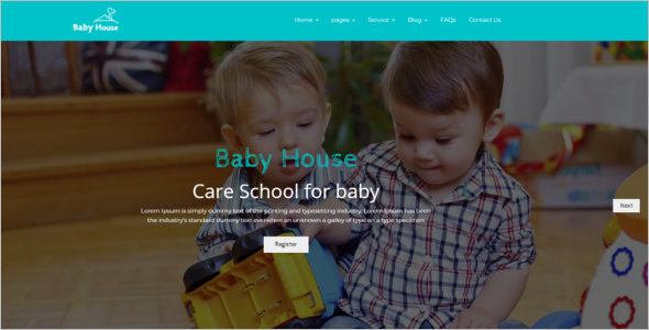 Kids School WordPress Website Template