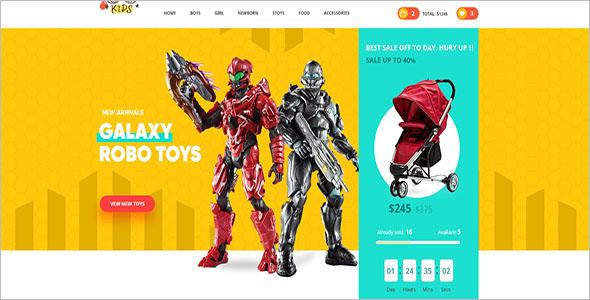 Kids Toy Store Drupal Theme