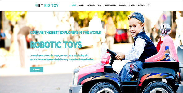 Kids Toy Store Joomla Template