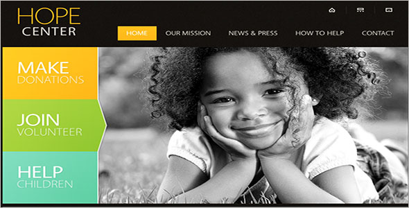 Kids Website Template Free Download