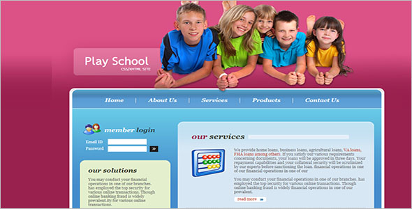 Kids Website Template