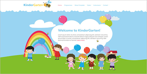 Kindergarten Joomla Blog Template