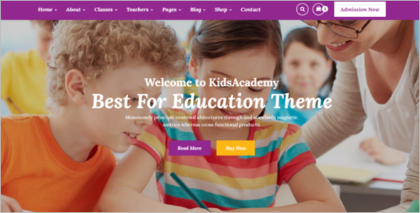Kindergarten School HTML Template