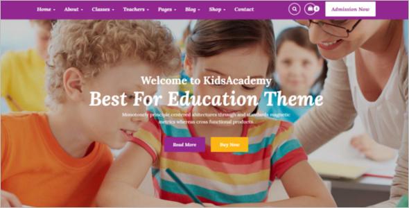 Kindergarten School HTML Template