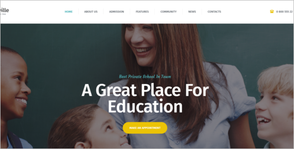 Kindergarten School Website Theme