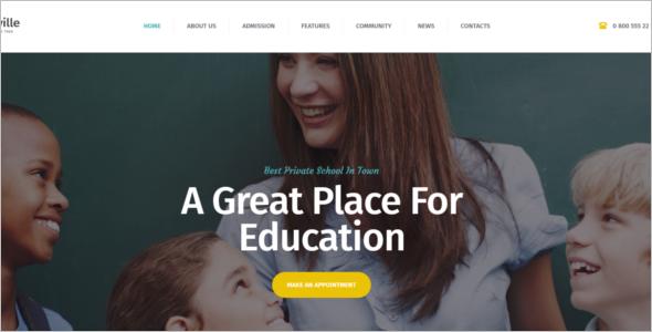 Kindergarten School Website Theme