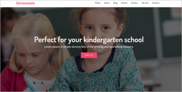 Kindergarten Website Design Template