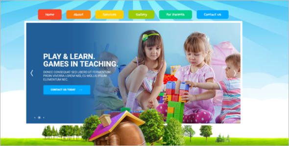 Kindergarten Website Template Bootstrap